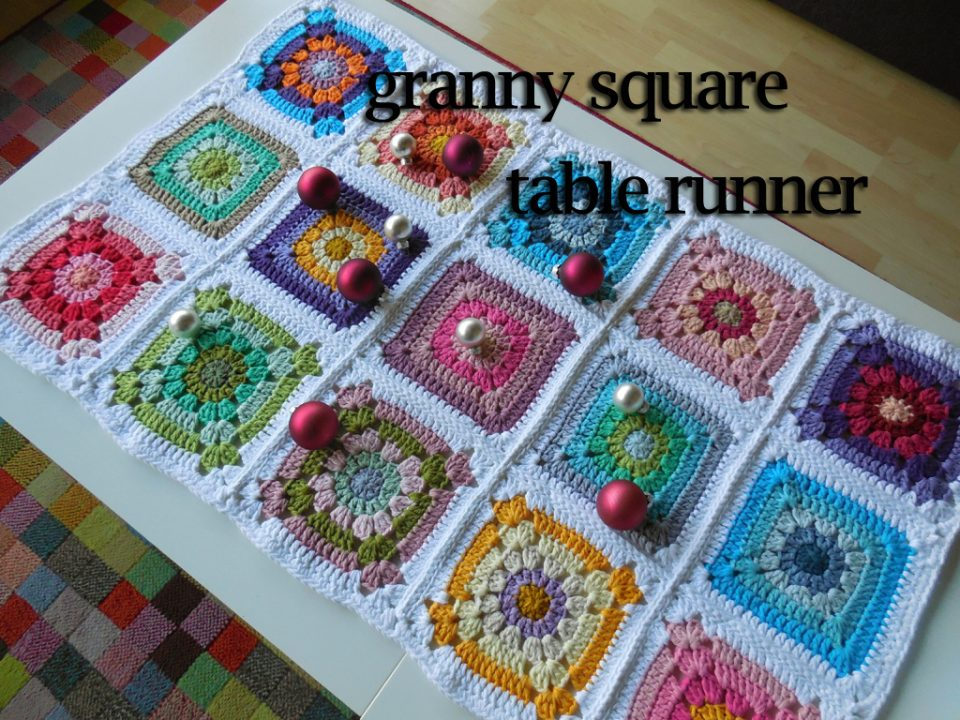 Free Photo Tutorialgranny Square Table Runner A Spoonful Of Yarn